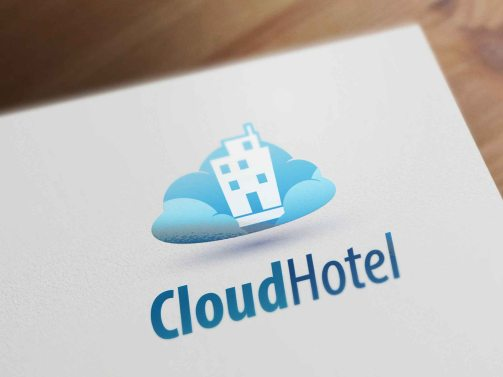 Cloud Hotel logo template logodesign
