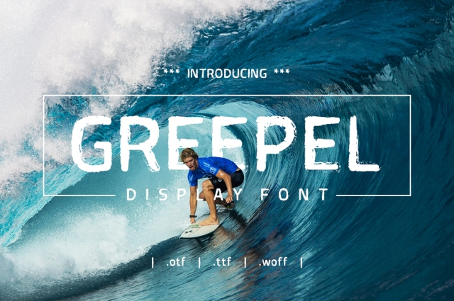 Greepel Grunge Font – yantodesign